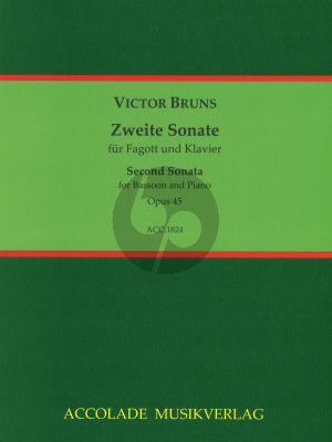 Bruns Sonate No. 2 Op.45 Fagott und Klavier