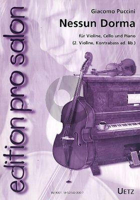 Puccini Nessun Dorma (Rossler) (2.Violine und Kontrabass ad lib.) (Partitur/Stimmen)
