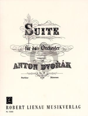 """Dvorak Suite Op.39 """"Bohemian Suite"""" fur Orchester (Partitur)"""
