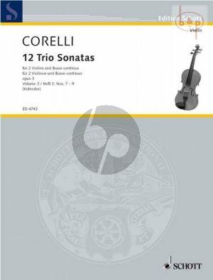 12 Triosonatas Op.3 Vol.3 (No. 7 - 9) (2 Vi.-Bc)