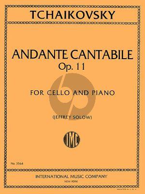 Tchaikovsky Andante Cantabile Op.11 Violoncello-Piano (Solow)