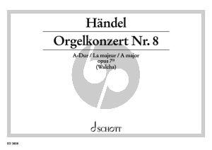 Orgelkonzert No.9 A-dur Op. 7 No. 2 HWV 307 Orgelauszug