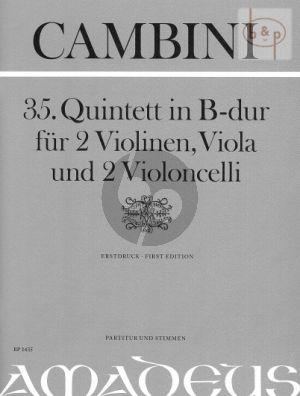 Quintet No.35 B-flat major (Score/Parts)