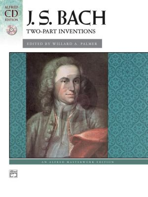 Bach Two-Part Inventions (Bk-Cd) (Palmer) Level: Intermediate / Late Intermediate
