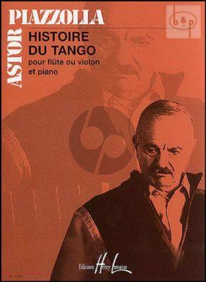Piazzolla Histoire du Tango Flute ou Violon et Piano