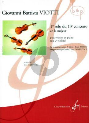 1e Solo du 13e Concerto La Majeur (Comentale)