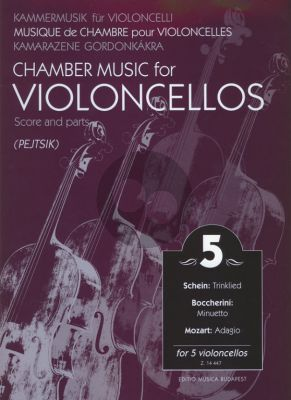 Chamber Music for Violoncellos Vol.5 (5 Vc) (Score/Parts) (Arpad Pejtsik)