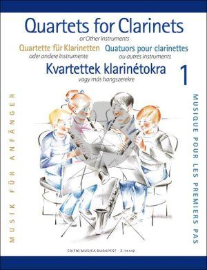 Clarinet Quartets for Beginners Vol. 1 (Score/Parts) (edited by Éva and Péter Perényi)