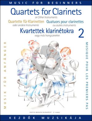 Clarinet Quartets for Beginners Vol. 2 (Score/Parts) (edited by Éva and Péter Perényi)