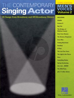 Contemporary Singing Actor Vol.2 Men's Ed. (38 songs Broadway and Off-Broadway shows) (Walters)