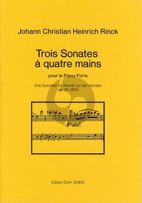Rinck 3 Sonaten Op.26 (1810) Piano 4 Hds. (Dohr)