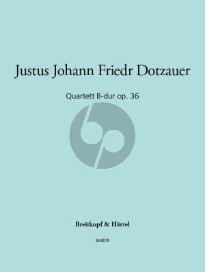 Dotzauer Quartett B-dur Opus 36 (Fagott-Vi.-Va.-Vc.) (Stimmen)