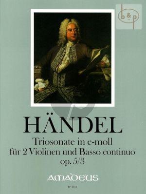 Triosonate e-moll Op.5 No.3 HWV 398