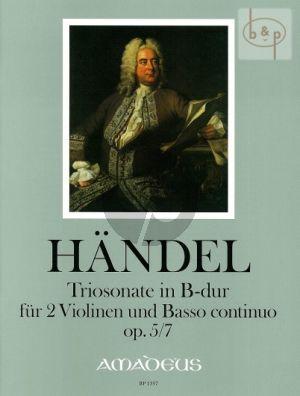 Triosonate B-Dur Op.5 No.7 HWV 402
