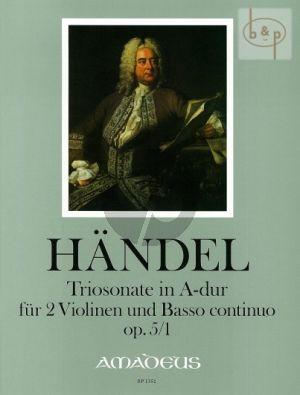 Triosonate A-dur Op.5 No.1 HWV 396