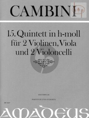 Quintet No.15 h-moll (Score/Parts)