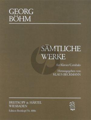 Bohm Samtliche Werke Cembalo (edited by Klaus Beckmann)