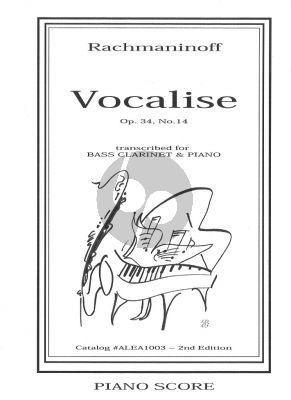 Rachmaninoff Vocalise Op.34 No.14 for Bass Clarinet and Piano