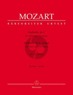 Mozart Andante C-dur KV 315 Flöte-Orchester Partitur (Franz Giegling)