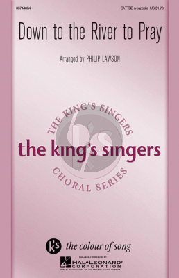 Traditional Down to the River to Pray SATTBB a Cappella (King's Singer) (arr. Philip Lawson)
