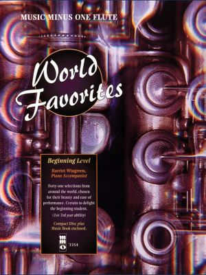 World Favorites - 41 Easy Selections from Around the World Flute (Bk-Cd) (Beginning Level) (Music Minus One Flute)