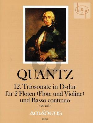 Triosonate No.12 D-dur (QV 2:13)