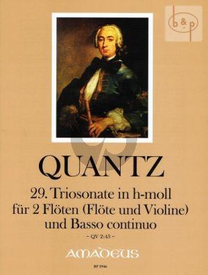 Triosonate No.29 h-Moll (QV 2:43) (Erstdruck)