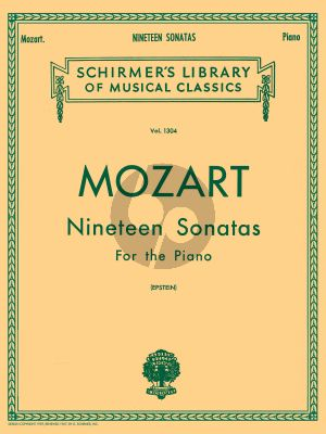 19 Sonatas for Piano solo