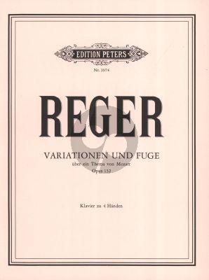 Reger Variationen & Fuge über ein Thema von Mozart Op.132 Klavier 4 Hd.