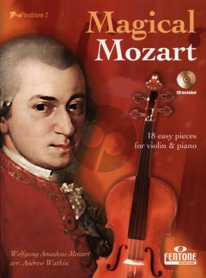 Magical Mozart for Violin and Piano (18 Pieces) (Bk-Cd) (Easy-Intermediate Position 1) (Andrew Watkin)