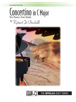 Vandall Concertino in C for 2 Pianos 4 Hands (2 Copies Included)