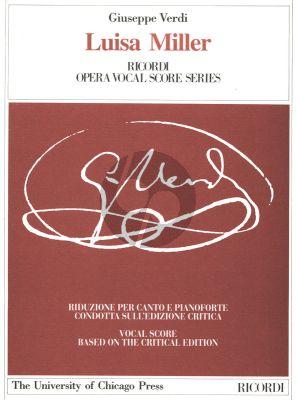 Verdi Luisa Miller Vocal Score (it./engl.) (Ricordi Critical Edition)
