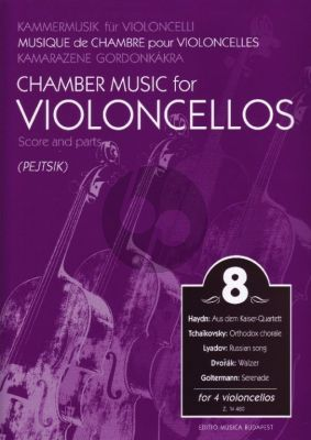 Chamber Music for Violoncellos Vol.8 (4 Vc) (Score/Parts) (Arpad Pejtsik)