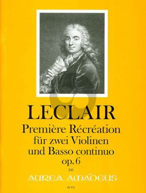 Leclair Premiere Recreation Op.6 2 Violinen und Bc (Morgan/Kostujak)