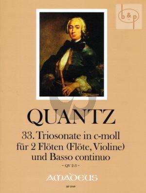 Triosonate No.33 c-Moll (QV 2:3)