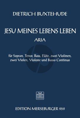 Buxtehude Jesu meines Lebens Leben BuxWV 62 (SATB-Fl.-Str.-Bc) Score (herausgegeben von D. Kilian)