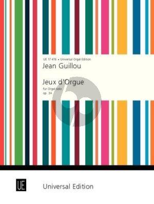 Guillou Jeux d'Orgue Opus 34