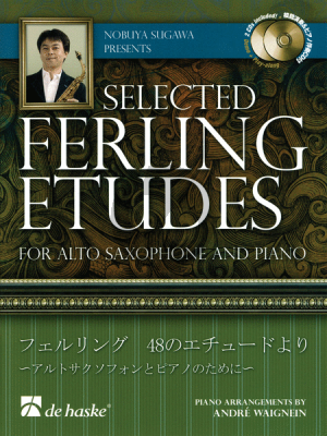 Selected Ferling Studies for Alto Saxophone (with Piano Accompaniment) (Bk-2 CD's) (edited by N.Sugawa) (Piano Accomp. seperately available)