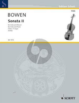 Bowen Sonate No.2 F dur Op.22 Viola und Klavier