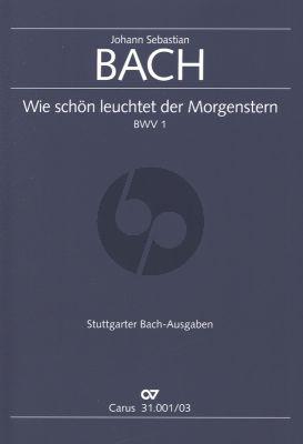 Bach Kantate BWV 1 Wie schön leuchtet der Morgenstern Klavierauszug (Deutsch/English) (Kantate zum Fest Mariae Verkündigung)