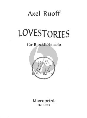 Ruoff Lovestories Blockflote Solo