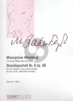Weinberg Quartet No.8 Op.66 2 Vi.-Va.-Vc. (Parts)