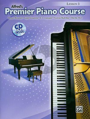 Premier Piano Course 3 Lessonbook (Bk-Cd)