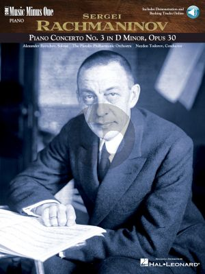Rachamninoff Concerto No.3 d-minor Op.30 Piano-Orchestra Book with Audio Online (Music Minus One Series)