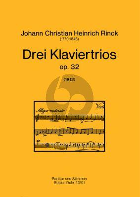3 Klaviertrios Op.32 Vi-Vc-Klavier