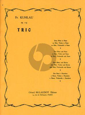 Kuhlau Trio Op.119 for 2 Flutes [Flute/Violon or Flute/Violoncello] and Piano