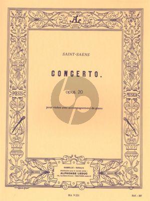 Saint-Saens Concert No. 1 Op. 20 Violon et Orchestre (red. Violon et Piano)