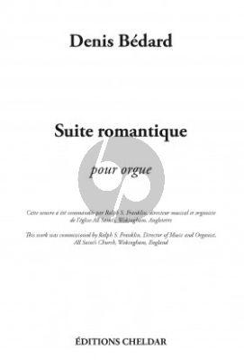 Bedard Suite Romantique Organ