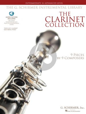 Clarinet Collection Clarinet-Piano Intermediate to Advanced (Bk-Audio Access)