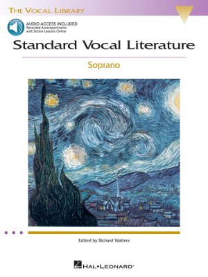 Album Standard Vocal Literature - An Introduction to Repertoire Soprano arr. Richard Walters Book with Audio Online